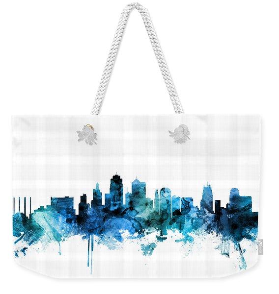 Kansas City Missouri Skyline Weekender Tote Bag