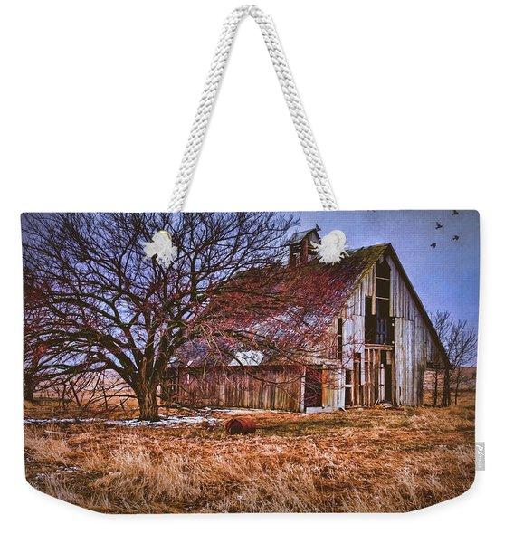 Kansas Countryside Old Barn Weekender Tote Bag