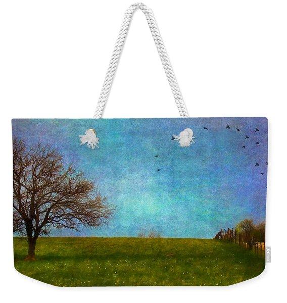 Kansas Early Spring Prairie Weekender Tote Bag