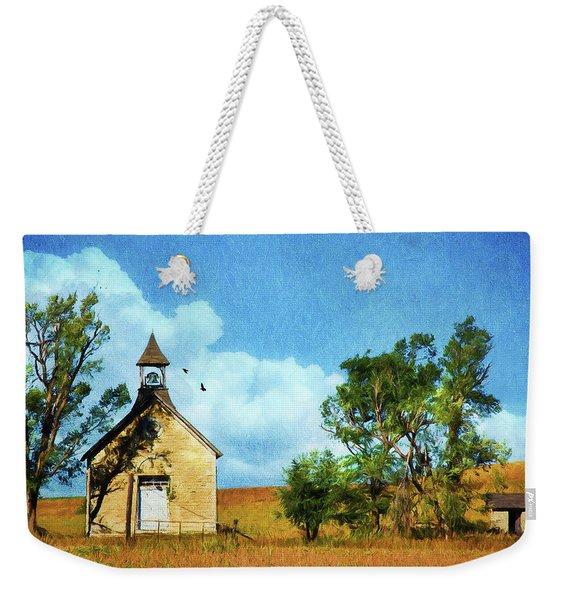 Kansas Prairie Schoolhouse Weekender Tote Bag