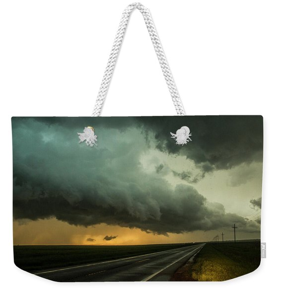 Weekender Tote Bag featuring the photograph Kansas Storm Chase Bust Day 004 by NebraskaSC