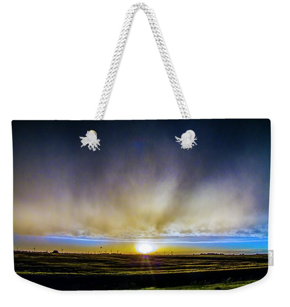 Weekender Tote Bag featuring the photograph Kansas Storm Chase Bust Day 005 by NebraskaSC