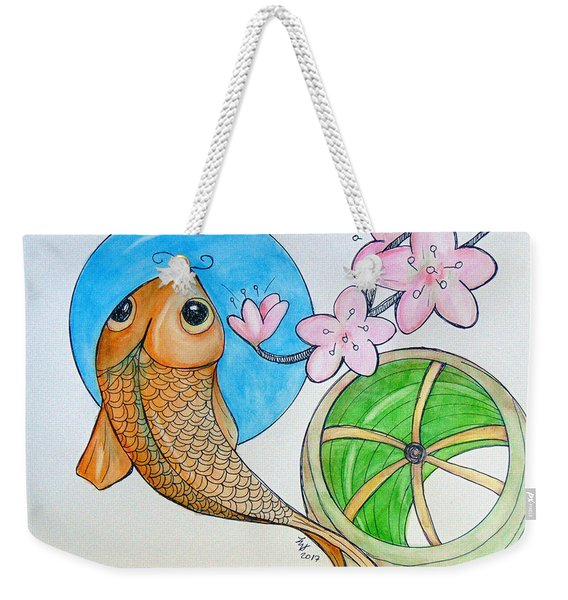 Karp And Cherry Blooms Weekender Tote Bag