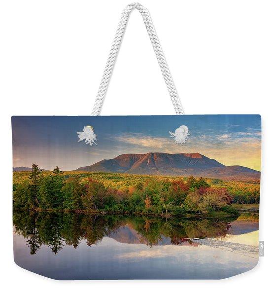 Katahdin At Sunset Weekender Tote Bag