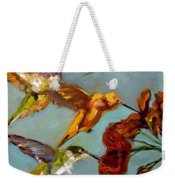 Kathy's Humming Birds Weekender Tote Bag