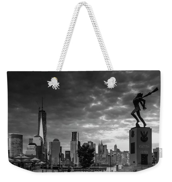 Katyn New World Trade Center In New York Weekender Tote Bag