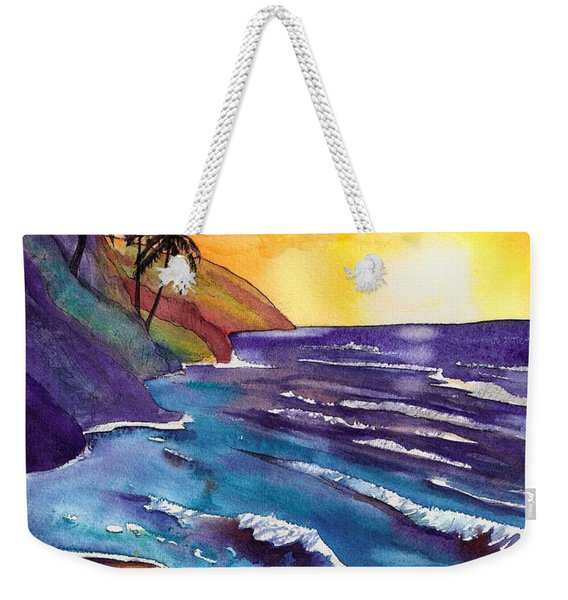 Kauai Na Pali Sunset Weekender Tote Bag