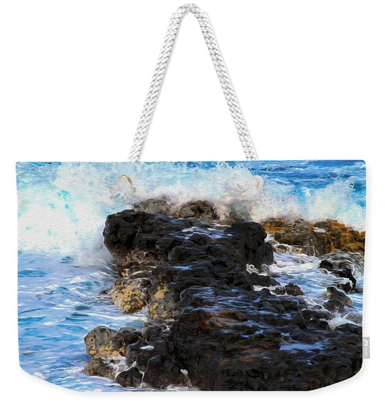 Kauai Rock Splash Weekender Tote Bag