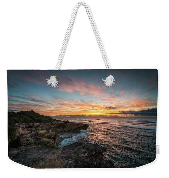 Kauai Seascape Sunrise Weekender Tote Bag