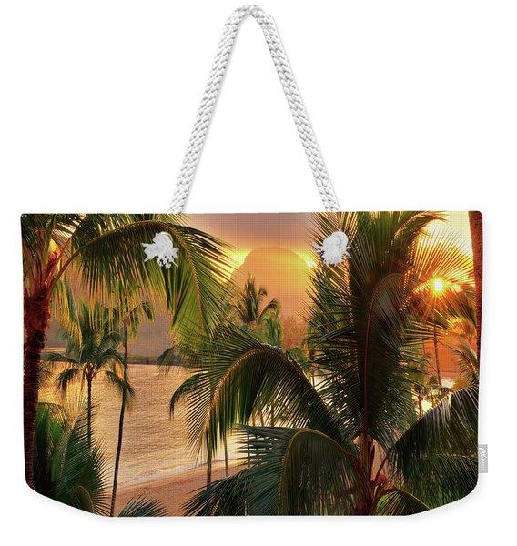 Olena Art Kauai Tropical Island View Weekender Tote Bag