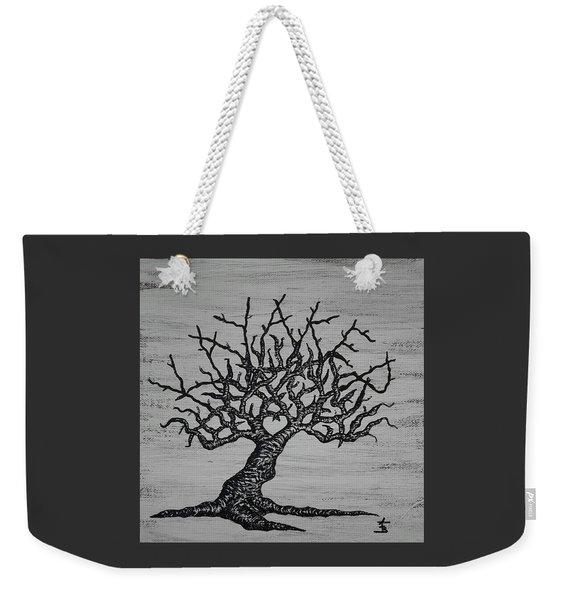 Weekender Tote Bag featuring the drawing Kayaker Love Tree by Aaron Bombalicki