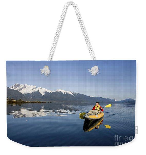 Kayaking Alaskas Favorite Passage Weekender Tote Bag