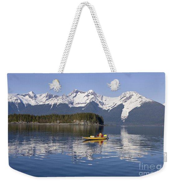 Kayaking In Alaska Weekender Tote Bag