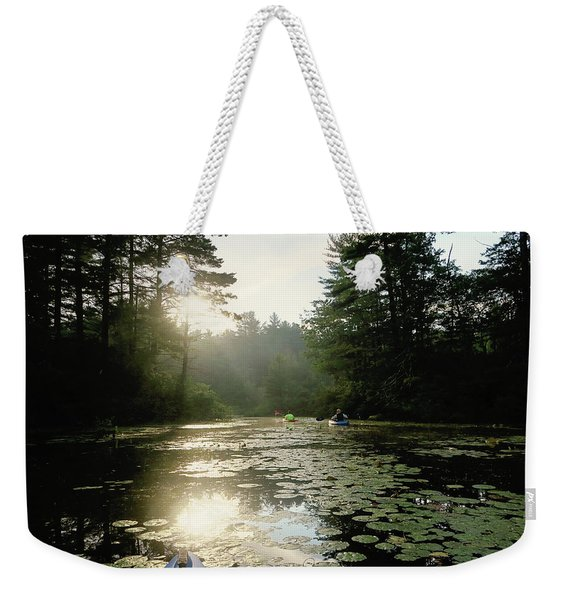 Kayaking Weekender Tote Bag