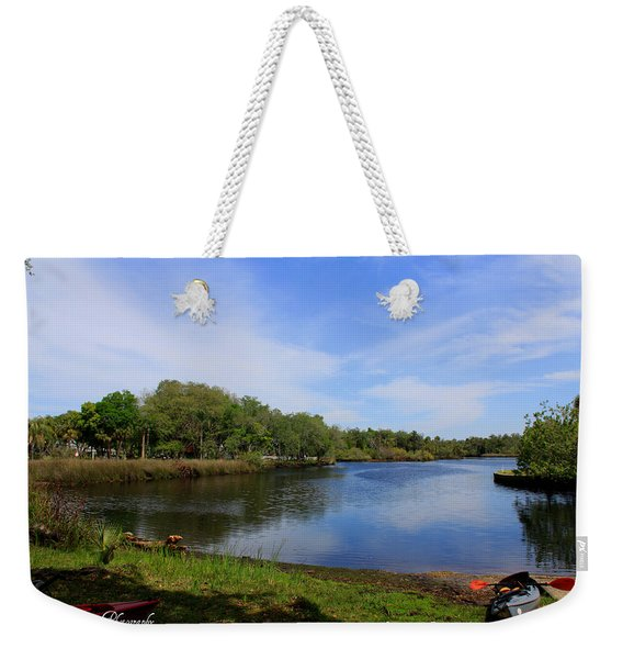 Kayaking The Cotee River Weekender Tote Bag