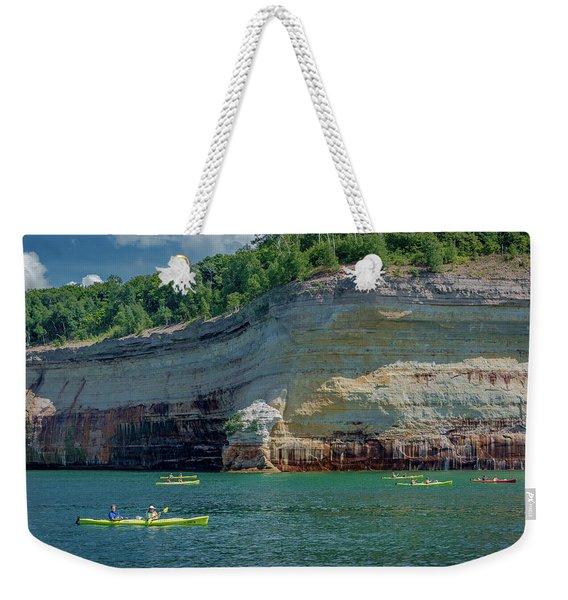Kayaking The Pictured Rocks Weekender Tote Bag