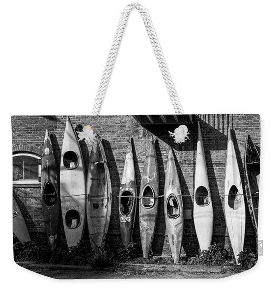 Kayaks And Canoes Weekender Tote Bag