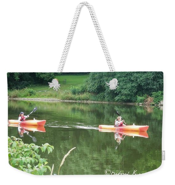 Kayaks On The River Weekender Tote Bag