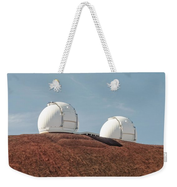 Weekender Tote Bag featuring the photograph Keck 1 And Keck 2 by Jim Thompson
