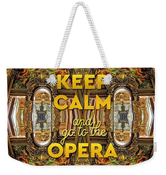 Keep Calm And Go To The Opera Garnier Grand Foyer Paris Weekender Tote Bag