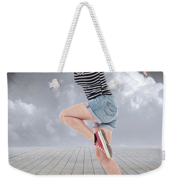 Keep On Running Weekender Tote Bag