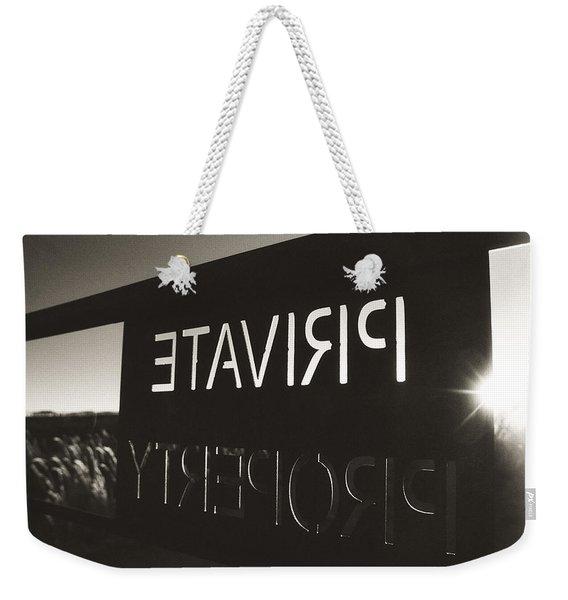 Keep Out Weekender Tote Bag