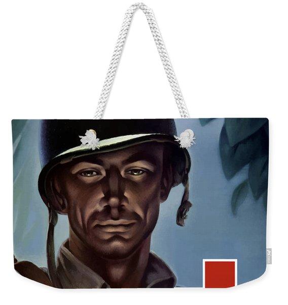 Keep Your Red Cross At His Side Weekender Tote Bag