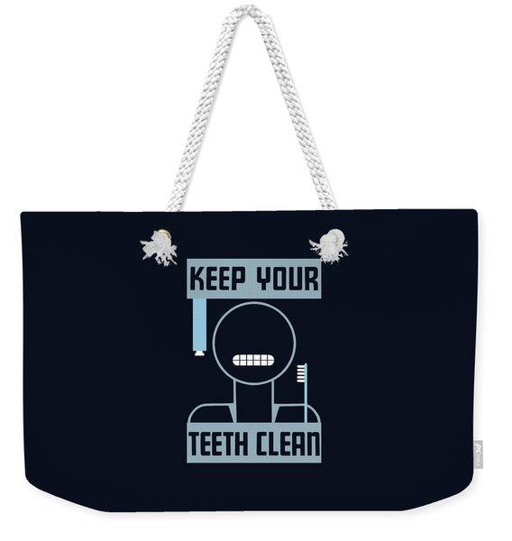 Keep Your Teeth Clean - Wpa Weekender Tote Bag