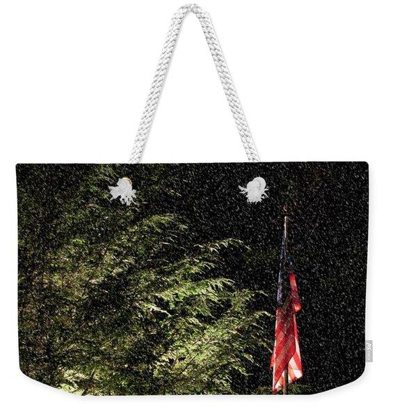 Keeping America  Illuminated.  Weekender Tote Bag