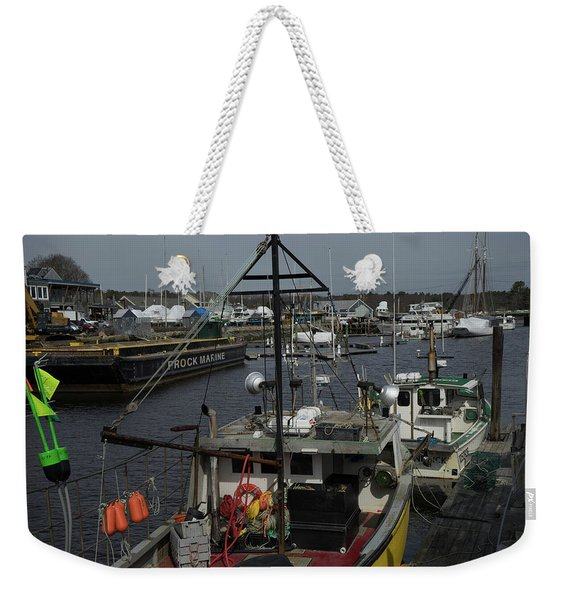 Kennebunkport Harbor In Early Winter Weekender Tote Bag