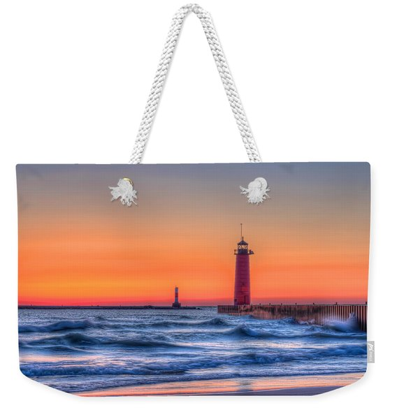 Kenosha Lighthouse Dawn Weekender Tote Bag
