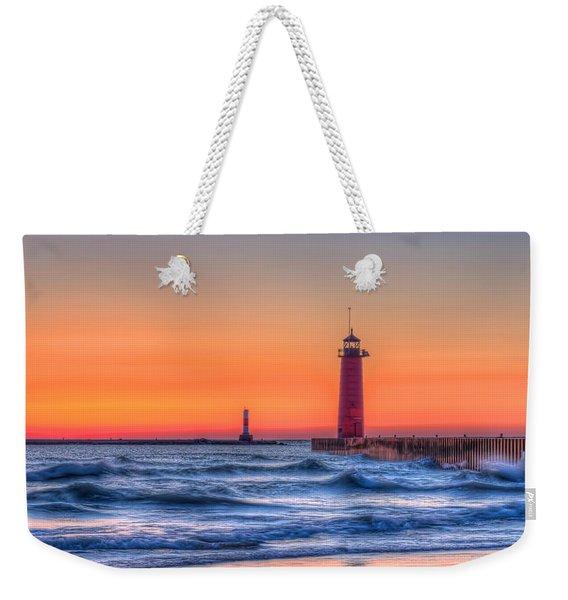 Kenosha Lighthouse Dawn Weekender Tote Bag