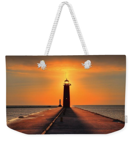 Kenosha Lighthouse Shining Light Weekender Tote Bag