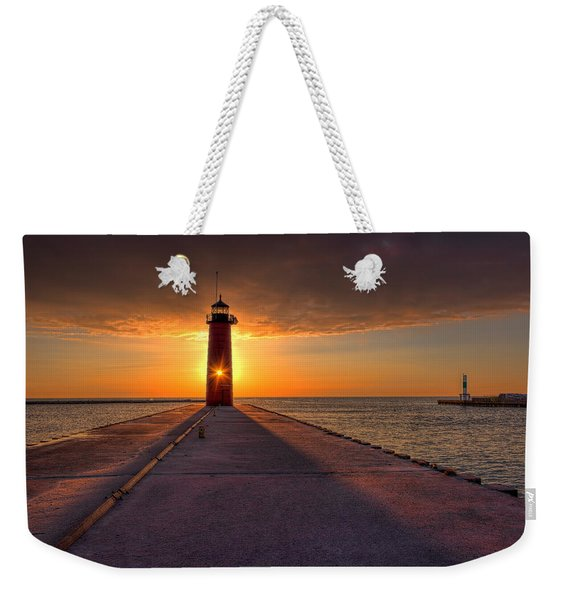Kenosha Lighthouse Sunrise Weekender Tote Bag