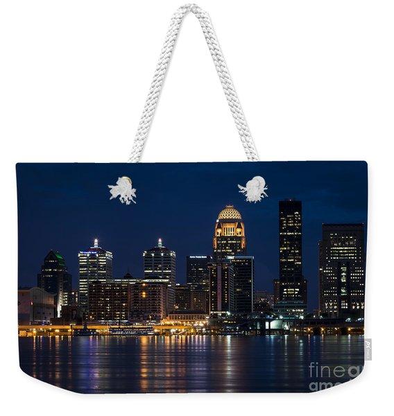 Louisville At Night Weekender Tote Bag