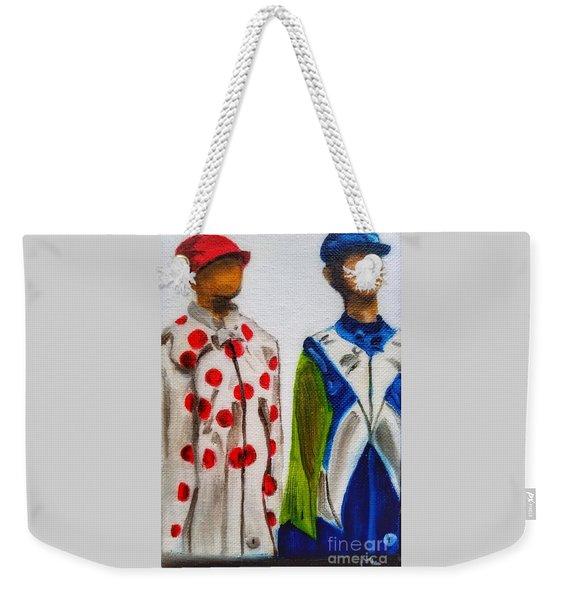 Kentucky Derby Jockey Mannequins Weekender Tote Bag