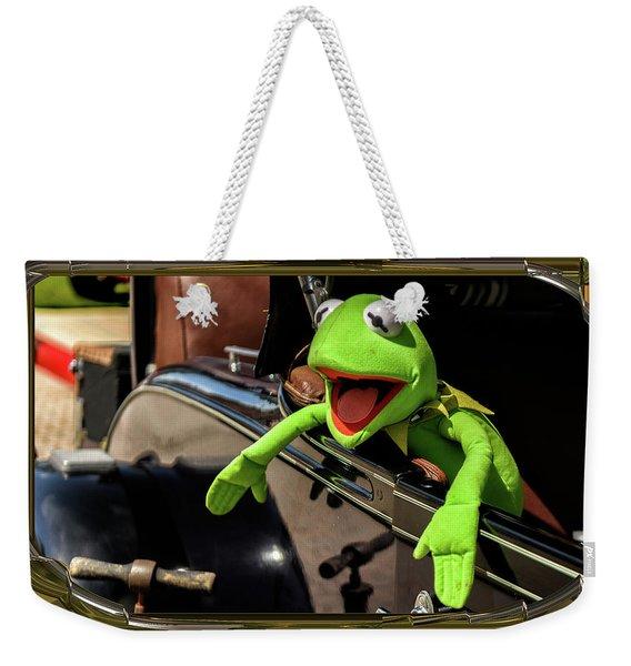 Kermit In Model T Weekender Tote Bag