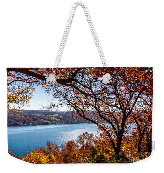 Keuka Lake Vista Weekender Tote Bag