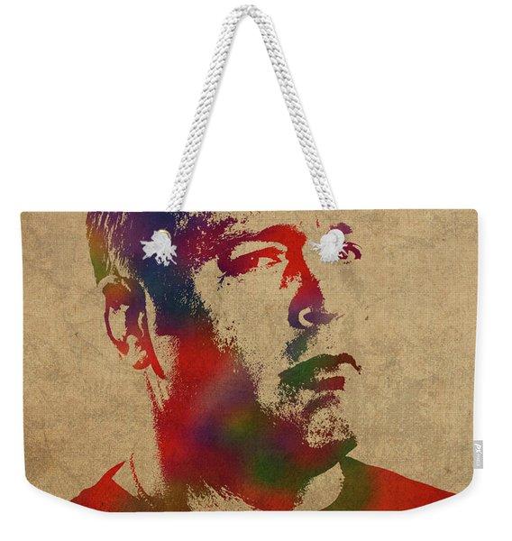 Kevin James Watercolor Portrait Weekender Tote Bag