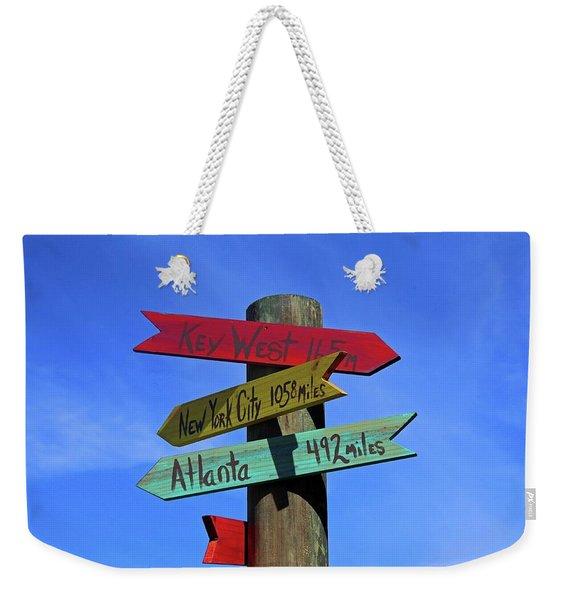 Key West 165 Miles Weekender Tote Bag