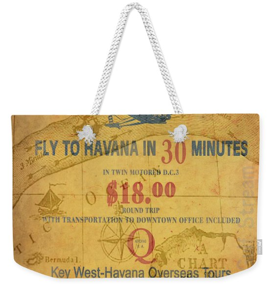 Key West To Havana Weekender Tote Bag