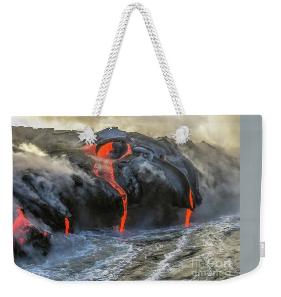Weekender Tote Bag featuring the photograph Kilauea Volcano Hawaii by Benny Marty