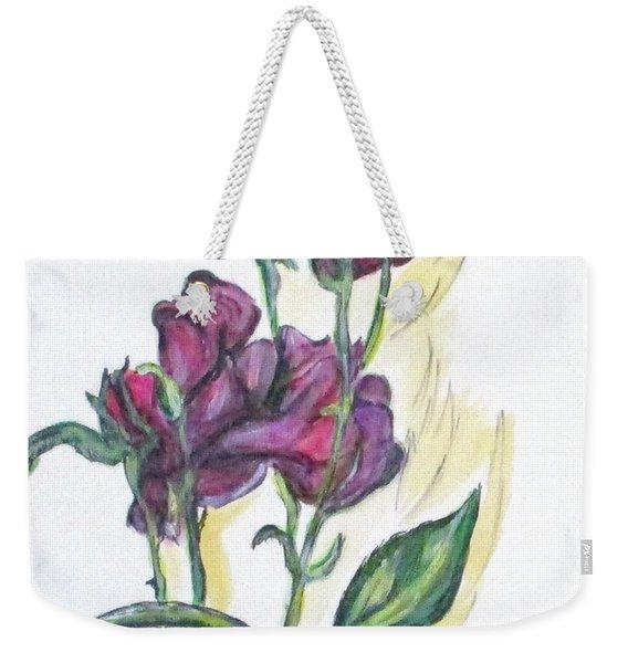 Kimberly's Spring Flower Weekender Tote Bag