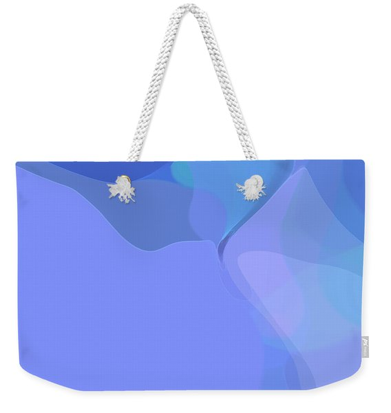 Weekender Tote Bag featuring the digital art Kind Of Blue by Gina Harrison