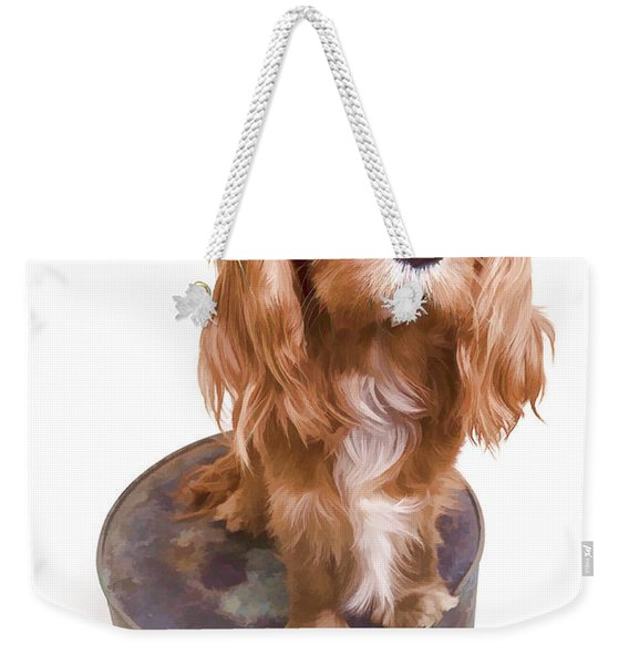 King Charles Spaniel Puppy Weekender Tote Bag