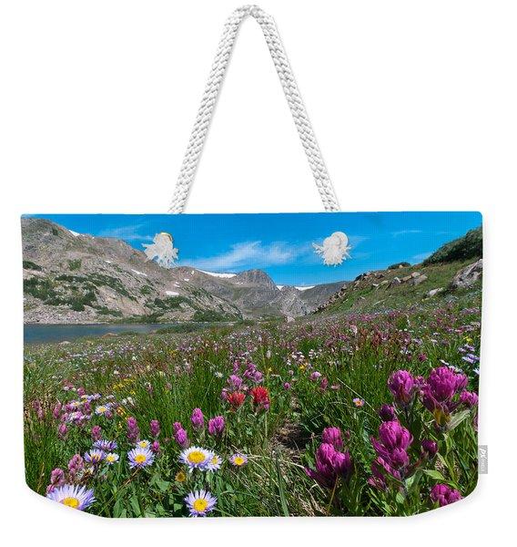 King Lake Summer Landscape Weekender Tote Bag