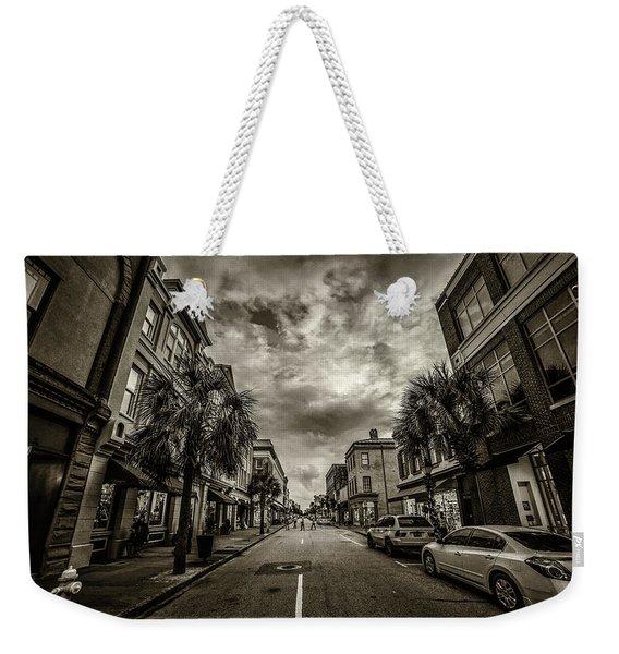 King St. Storm Clouds Charleston Sc Weekender Tote Bag