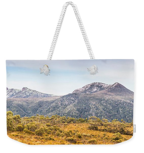 King William Range. Australia Mountain Panorama Weekender Tote Bag