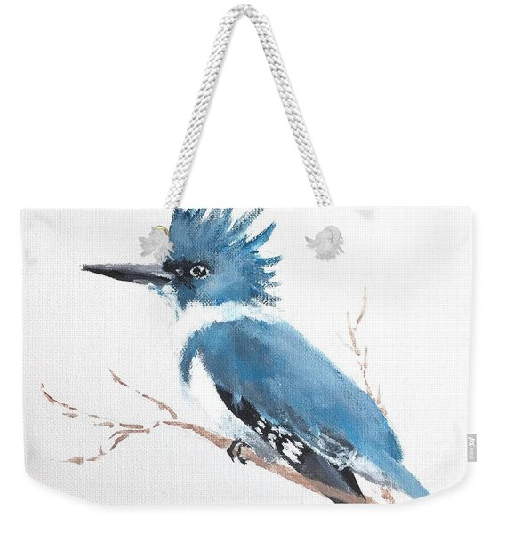 Kingfisher On A Branch Weekender Tote Bag