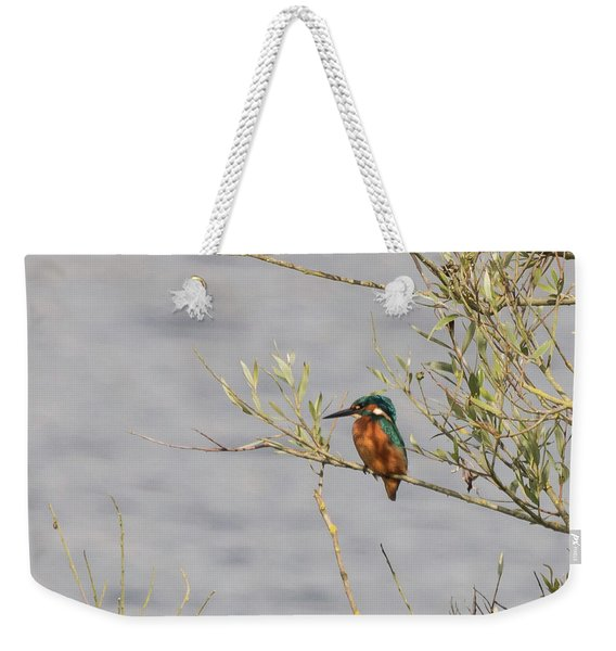 Kingfisher Waiting Weekender Tote Bag